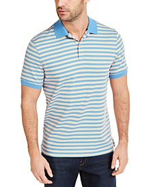 Men's Striped Interlock Polo Shirt, Created for Macy's