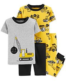 Toddler Boys 4-Pc. Construction Cotton Pajamas Set