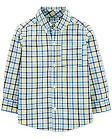 Toddler Boys Cotton Plaid Shirt