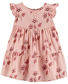 Baby Girls Floral-Print Tiered Ruffle Dress