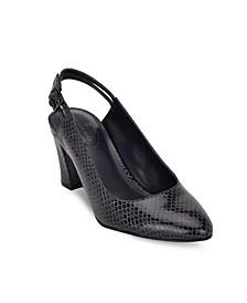 Wanda Block Heel Pumps