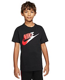 Big Boys Cotton Colorblocked Swoosh T-Shirt