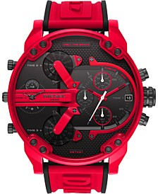 Men's Chronograph Mr. Daddy 2.0 Red Silicone Strap Watch 57mm