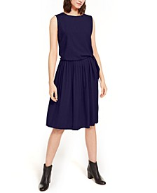 Side-Tie Pleated Dress