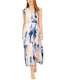 Flutter-Sleeve Wrap Maxi Dress, Created For Macy's