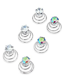 INC 6-Pc. Silver-Tone Crystal Twist Coil Hair Pin Set, Created for Macy's