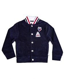 Toddler and Little Boys Corduroy Bomber with Ribbed Knit Waistband