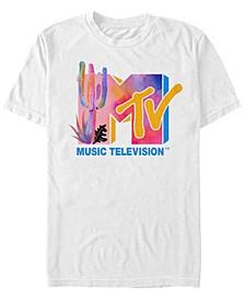Men's Colorful Desert Water Color Logo Short Sleeve T- shirt