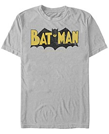 DC Men's Batman Retro Bat Logo Short Sleeve T-Shirt
