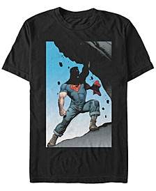 DC Men's Superman Super Strong Poster Short Sleeve T-Shirt