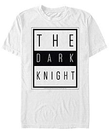 DC Men's Batman The Dark Knight Text Poster Short Sleeve T-Shirt