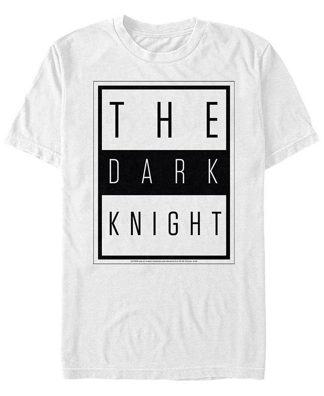 Fifth Sun DC Men's Batman The Dark Knight Text Poster Short Sleeve T-Shirt