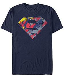 DC Men's Superman Camouflage Logo Short Sleeve T-Shirt