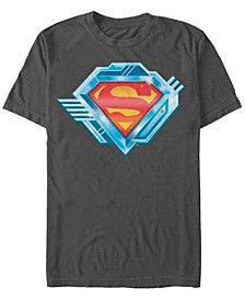 DC Men's Superman Chrome Logo Short Sleeve T-Shirt