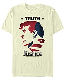 DC Men's Superman Truth and Justice Short Sleeve T-Shirt