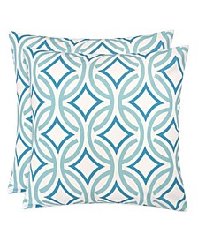 Outdoor Pillow, Retro Circles - Set of 2