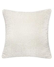 Chloe Jacquard Plaid Throw Pillow, Houndstooth