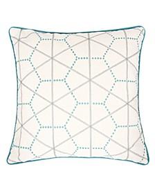 Caroline Embroidery Cotton Square Decorative Throw Pillow