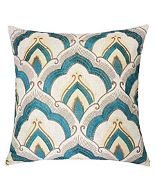 Amy Embroidery Square Decorative Throw Pillow