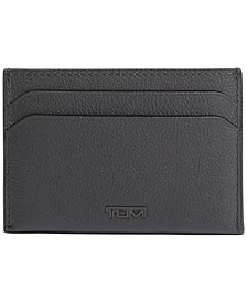 Men's Money Clip Leather Card Case