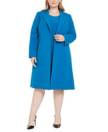 Plus Size Longline Jacket & Dress Suit