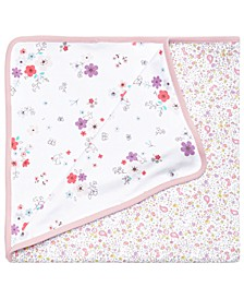 Baby Girls Bunny Floral-Print Cotton Blanket, Created for Macy's