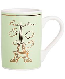 CLOSEOUT! Adore Paris Mug Green mug, Created for Macy's