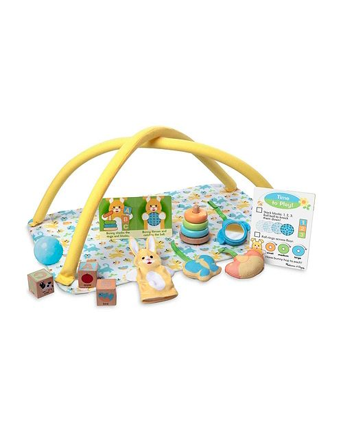 Melissa and Doug Melissa Doug Mine to Love Toy Time Play Set for Dolls with Activity Gym, Stacker, Blocks, More 16 pcs