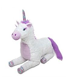 Melissa Doug Jumbo Misty Unicorn Stuffed Plush Animal 26 Inches Tall