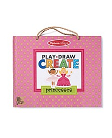 Melissa Doug Natural Play: Play, Draw, Create Reusable Drawing Magnet Kit – Princesses 54 Magnets, 5 Dry-Erase Markers