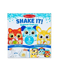 "Melissa Doug Shake It Deluxe Pets Beginner Craft Kit - Confetti-Covered Cat, Dog, and Bunny 4"" x 1.5"" Each"