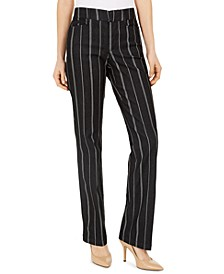 Denim Pinstriped Trousers, Created for Macy's