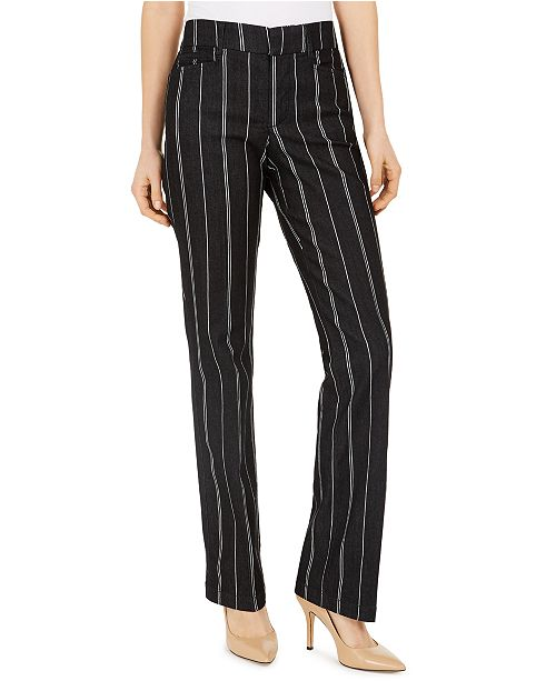 Charter Club Denim Pinstriped Trousers, Created for Macy's