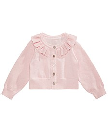 Baby Girls Ruffle-Neck Cardigan, Created For Macy's
