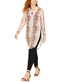 Snake-Print Tunic Top, Created For Macy's