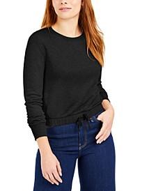 Tie-Front Sweatshirt, Created for Macy's