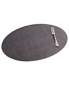 Faux Leather Oval Placemat, Created for Macy's