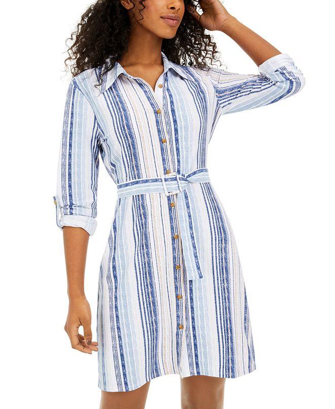 Common Stitch Juniors' Striped Shirtdress