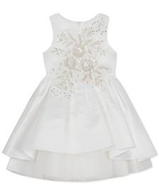 Little Girls Embellished High-Low Dress