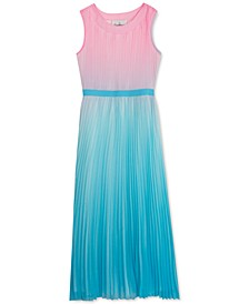 Big Girls Ombré Pleated Dress