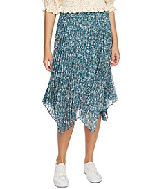 Woodland Floral Midi Skirt