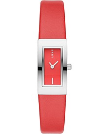 Women's Downtown Red Polyurethane Strap Watch 16x22mm