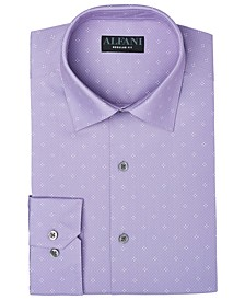 Men's Classic-Fit Diamond-Print Dress Shirt, Created for Macy's