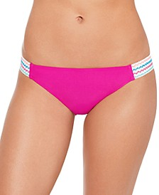Juniors' Solid Banded Hipster Bikini Bottoms, Created for Macy's