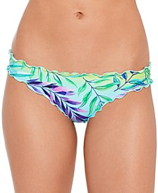 Juniors' Tropical Punch Printed Ruffled Hipster Bikini Bottoms, Created for Macy's