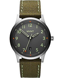 Men's Field Olive Nylon Strap Watch 41mm