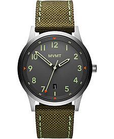 MVMT Men's Field Olive Nylon Strap Watch 41mm