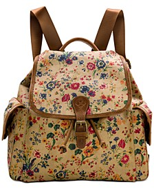 Prarie Rose Tavella Flap Backpack