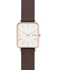 Men's Ryle Brown Leather Strap Watch 31mm