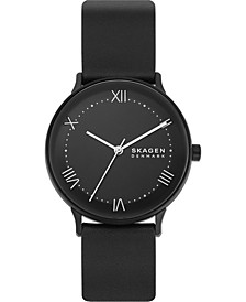Men's Nillson Black Leather Strap Watch 40mm
